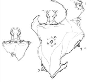Concept Sketch for Portal Crystals
