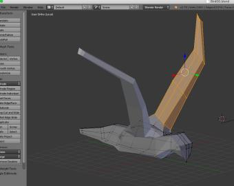 Flight - Bird model in Blender